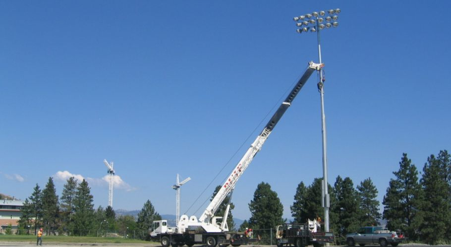 hillside stadium lights